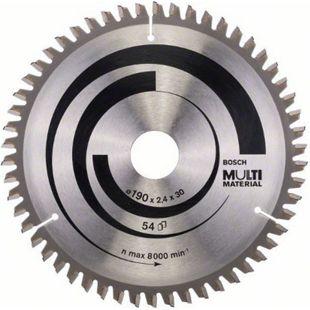 Bosch Kreissägeblatt Multi Material 190x30x2,4mm Z54TR-F 2 608 640 509 - Bild 1