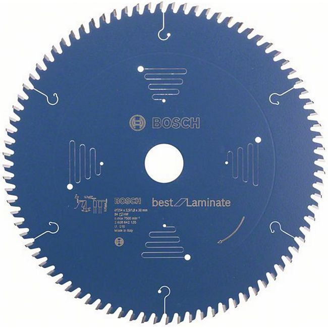 Bosch Kreissägeblatt Best for Laminate 254x30x2,5/1,8mm Z84TR-F  2608642135 - Bild 1