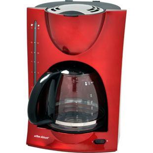 Efbe-Schott Kaffeeautomat m. Glaskanne, metallic rot - Bild 1