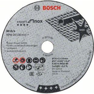 Bosch Trennscheibe Expert for Inox 76x1,0x10 mm ( 5St.) 2608601520 - Bild 1