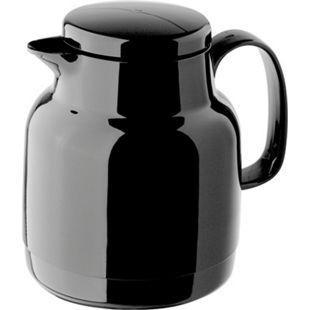 Helios Isolierkanne 1,0 l mit Teesieb schwarz - Bild 1