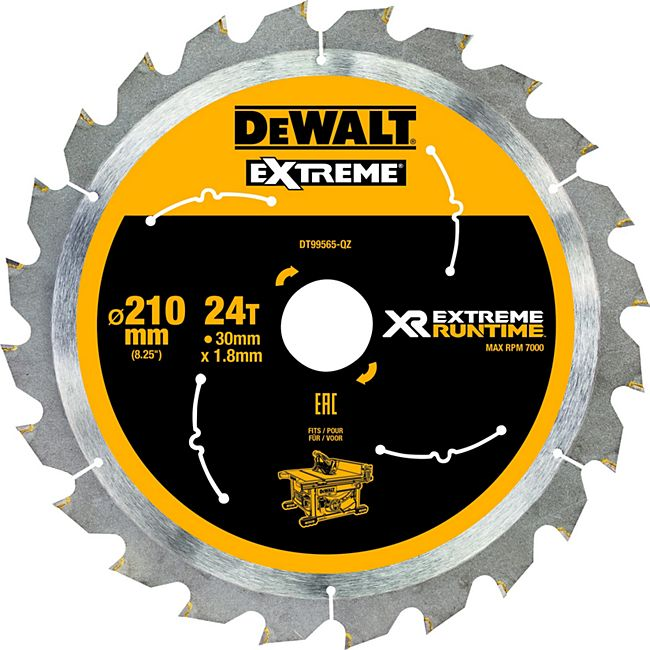 Dewalt DT99565 XR Extreme Runtime Kreissaegeblatt stat. 210/30mm 24WZ/FZ DT99565-QZ - Bild 1