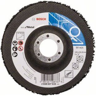 Bosch Reinigungsscheibe für Inox und Metall 125 mm N377  2608607633 - Bild 1