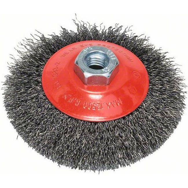 Bosch Kegelbürste gewellter Draht 115 mm M14 2608622101 - Bild 1