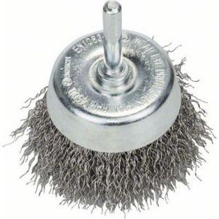 """Bosch Topfbürste gewellter Draht 60 mm Schaft 6mm """"rostfrei"""" 2608622118 - Bild 1"""
