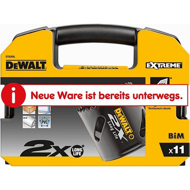 "Dewalt HSS-Bi-Metall Lochsägen-Set DT 8269 L 11-teilig 22- 57 mm ""EXTREME 2X"" DT8269L-QZ - Bild 1"