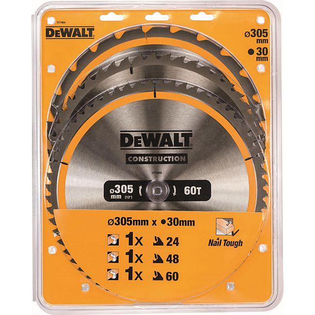 Dewalt Kreissägeblatt-Set DT 1964 N 3-teilig 305 x 30 mm DT1964-QZ - Bild 1
