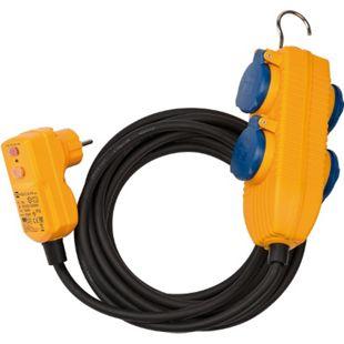 Brennenstuhl Schutzadapterleitung FI IP54 mit Powerblock 10m H07RNF3G1,5 1168730010 - Bild 1
