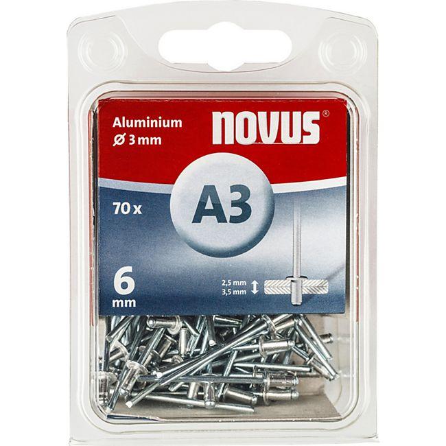 Novus Blindniete A 3 X 6 ALU 70ST  045-0028 - Bild 1