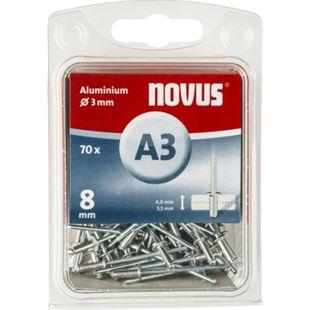 Novus Blindniete A 3 X 8 ALU 70ST  045-0029 - Bild 1