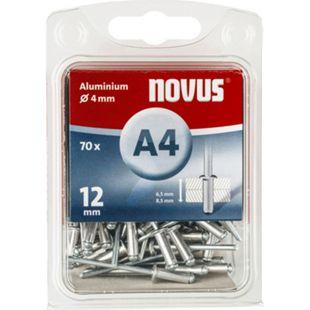 Novus Blindniete A 4 X 12 ALU 70ST  045-0071 - Bild 1