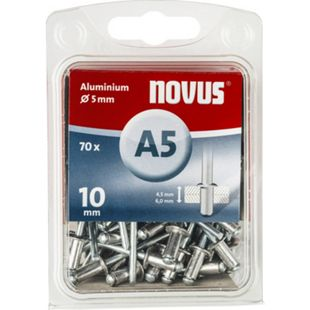 Novus Blindniete A 5 X 10 ALU 70ST  045-0048 - Bild 1