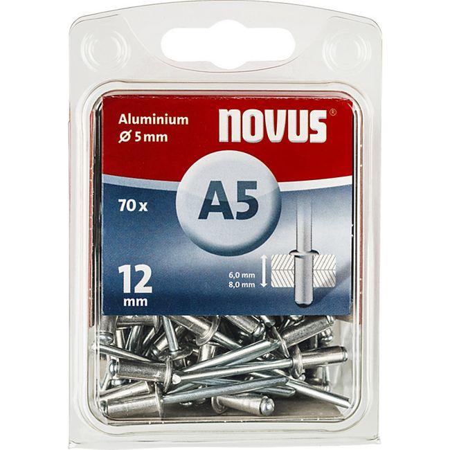 Novus Blindniete A 5 X 12 ALU 70ST  045-0072 - Bild 1
