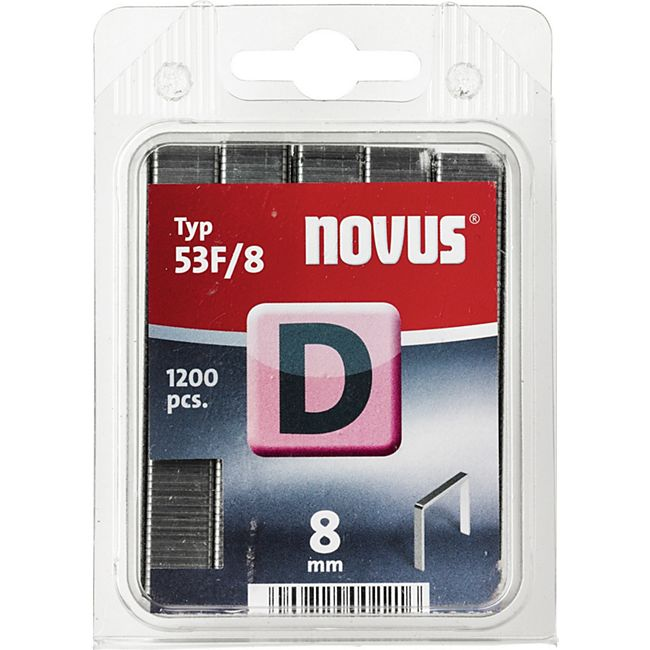 Novus Klammer D 53 F 8 mm 1200 STK  042-0375 - Bild 1