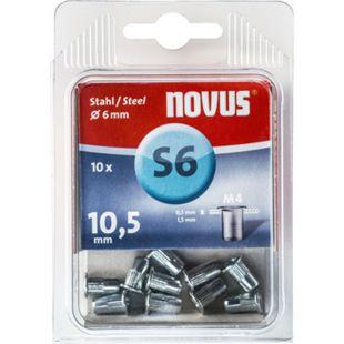 Novus Nietmutter M 4 X 10,5 Stahl 10 Stk  045-0044 - Bild 1
