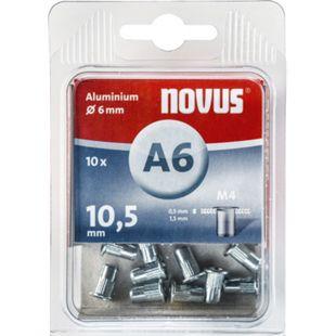 Novus Nietmutter M 4 X 10,5 Alu 10 Stk  045-0041 - Bild 1