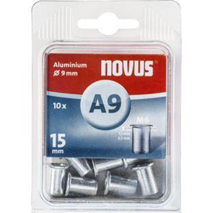Novus Nietmutter M 6 X 15 Alu 10 Stk  045-0043 - Bild 1