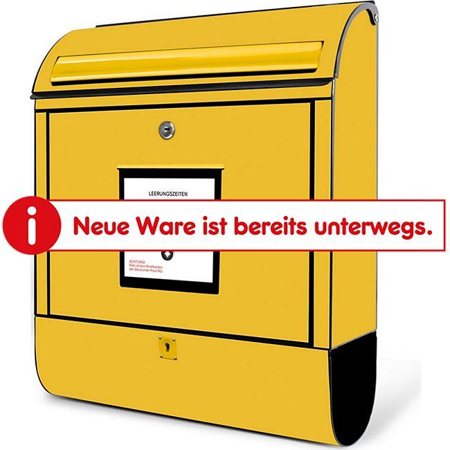 Burg-Wächter Briefkasten Scandic 825 S Gelbe Post mit Zeitungsbox 38949 Burgwächter - Bild 1