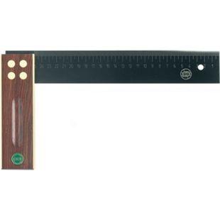 ECE Präzisionswinkel aus Palisanderholz ohne Gehrung mit Skala 250 mm lang - Bild 1