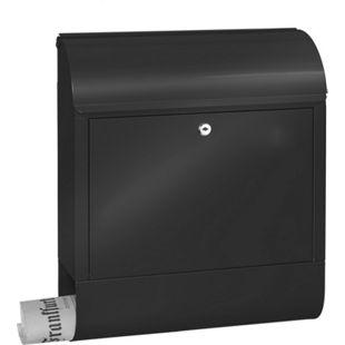Burg-Wächter Briefkasten Scandic 825 S schwarz mit Zeitungsbox - Bild 1