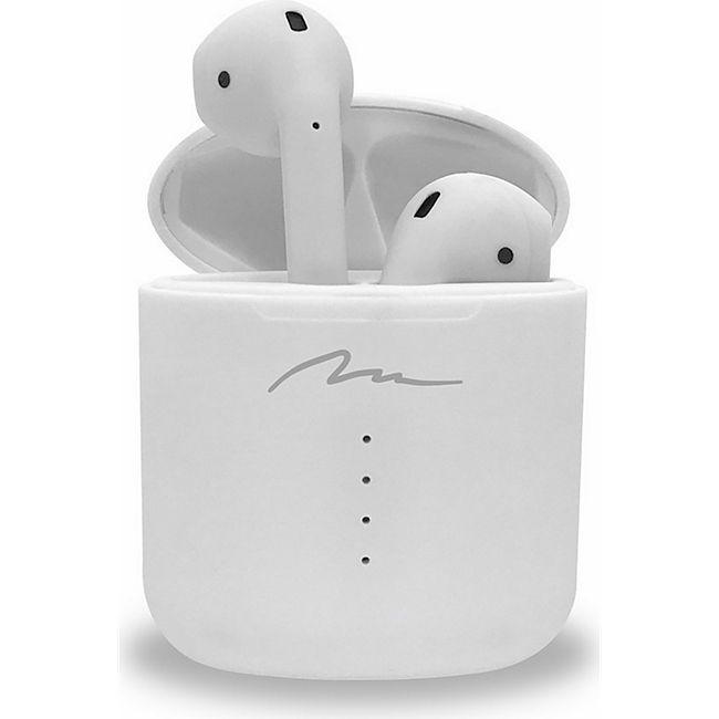 Media-Tech R-Phones Pro weiß MT3597 | Bluetooth 5.0 TWS Kopfhörer mit QI Wireless Charging Funktion - Bild 1