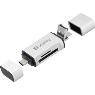 SANDBERG Kartenleser USB C USB MicroUSB - Bild 1