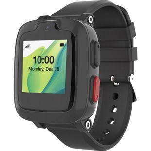 MYFIRST Fone S2 Kinder Smartwatch | Telefon Uhr | Video Anrufe | SIM Karten frei | Schulmodus | SOS-Funktion | Geo Fencing mit GPS Ortung | Schrittzähler | schwarz - Bild 1
