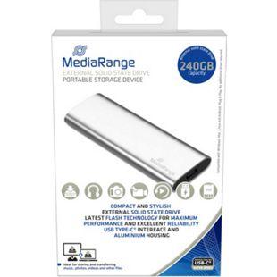 MEDIARANGE externes USB Type-C Solid State Laufwerk 240GB silber MR1101 - Bild 1