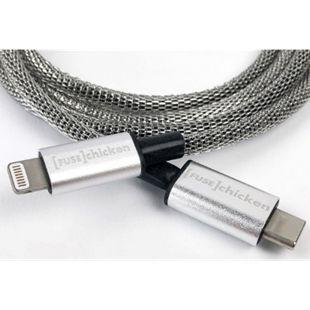 FUSECHICKEN Shield iPhone USB-C zu Lightning Kabel 1 Meter | ummantelt mit Edelstahl | MFI-zertifiziert - Bild 1