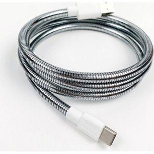 FUSECHICKEN Titan C USB-A auf USB-C Ladekabel | 1 Meter | ummantelt mit 100% flexiblem Stahl - Bild 1