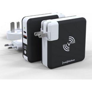 FUSECHICKEN Universal Ladestation Powerbank Adapter Weltreise Iphone Android | kabelloses Schnelladen | 6700mAh | 18W - Bild 1
