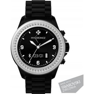MYKRONOZ ZeClock Smartwatch Schwarz Swarosvki - Bild 1