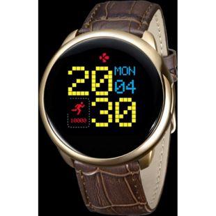 MYKRONOZ ZeRound Premium Smartwatch Leder gold - Bild 1
