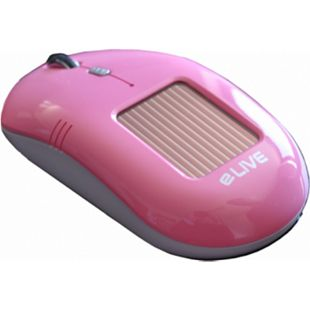ELIVE Light 2.4G Solar Wireless Mouse pink - Bild 1