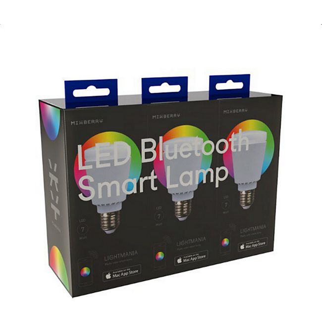 MIXBERRY LED Bluetooth Smart Licht 3er Set E27 - Bild 1