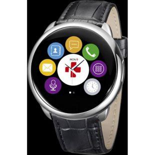 MYKRONOZ ZeRound Premium Smartwatch Leder schwarz - Bild 1