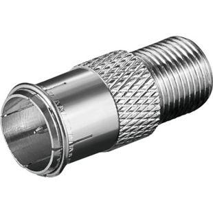 goobay Adapter F-Quick Stecker zu F-Kupplung - Bild 1