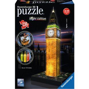 Ravensburger Puzzle 3DPuzzle Big Ben bei Nacht - Bild 1