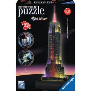 Ravensburger Puzzle 3DPuzzle Empire State bei Nacht - Bild 1