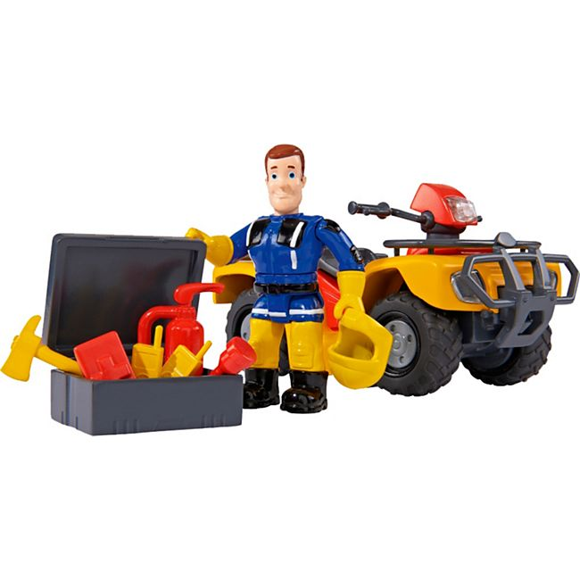 Simba Konstruktionsspielzeug Feuerwehrmann Sam Mercury-Quad mit Figur - Bild 1