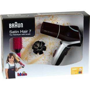 Theo Klein Kinderhaushaltsgerät Braun Satin Hair 7 Haartrockner mit Bürste - Bild 1