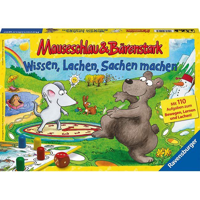 huge discount 91e26 909bc Ravensburger Brettspiel Mauseschlau & Bärenstark: Wissen, Lachen, Sachen  machen