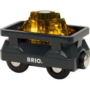 BRIO Spielfahrzeug World Goldwaggon mit Licht - Bild 1