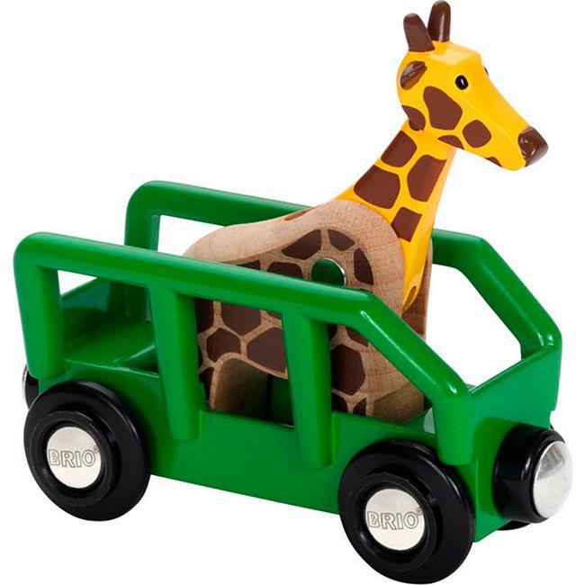 BRIO Spielfahrzeug World Giraffenwagen - Bild 1