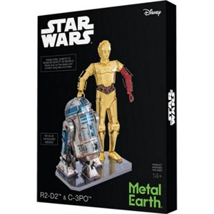 Metal Earth Modellbau Star Wars Set C-3PO + R2D2 Box Vers. - Bild 1
