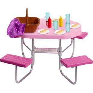 Mattel Puppenmöbel Barbie Möbel-Spielset Outdoor Picknicktisch - Bild 1