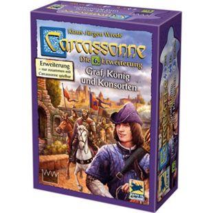 Asmodee Brettspiel Carcassonne - Graf, König und Konsorten - Bild 1