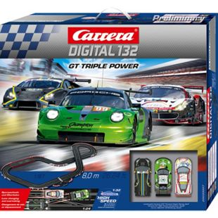 Carrera Rennbahn DIGITAL 132 GT Triple Power - Bild 1