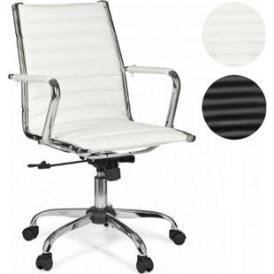 AMSTYLE Bürostuhl GENF 2 Bezug Kunstleder Schreibtischstuhl 110 kg Chefsessel höhenverstellbar - Bild 1