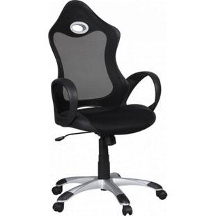 AMSTYLE Bürostuhl SALSA Stoffbezug Schreibtischstuhl schwarz grau Chefsessel Drehstuhl höhenverstellbar - Bild 1